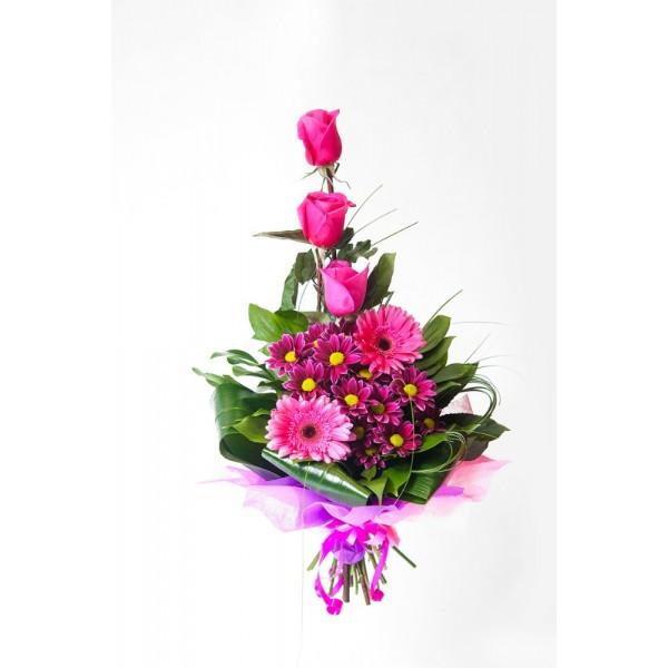 Бизнес-букет розовый