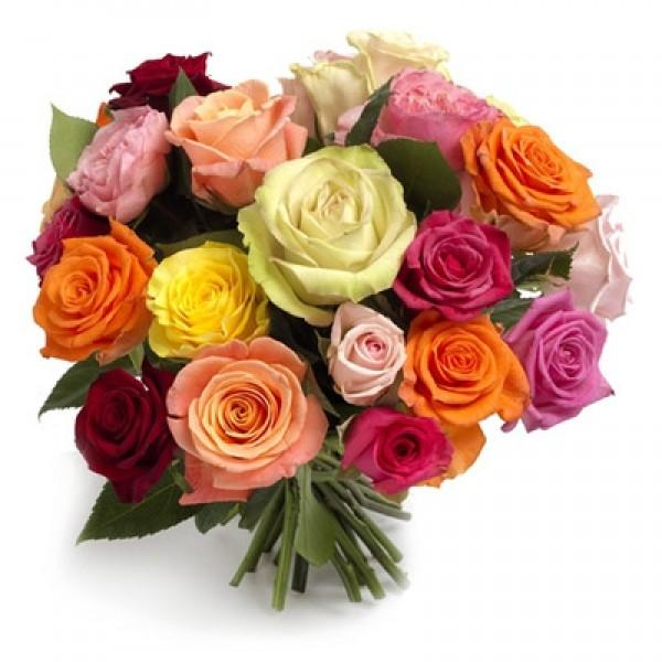 Букет из 15-ти шикарных Эквадорских роз 50см, перевязанных лентой.