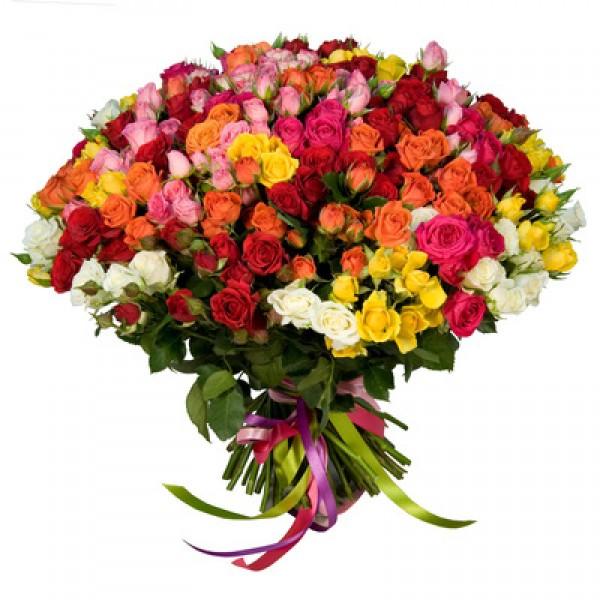 Букет № 109 «букет из 9 штук кустовой розы 60 см.
