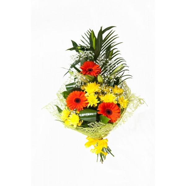Бизнес букет из герберы и хризантемы.